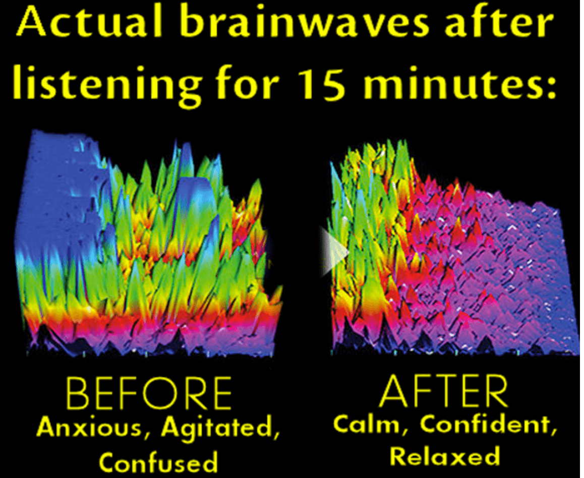 Actual brain waves after meditating for 15 minutes